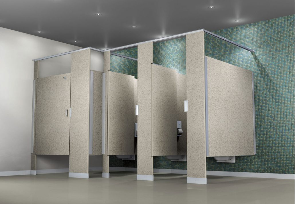 Gravel Bathroom Hiny Hiders Partitions HDPE Toilet
