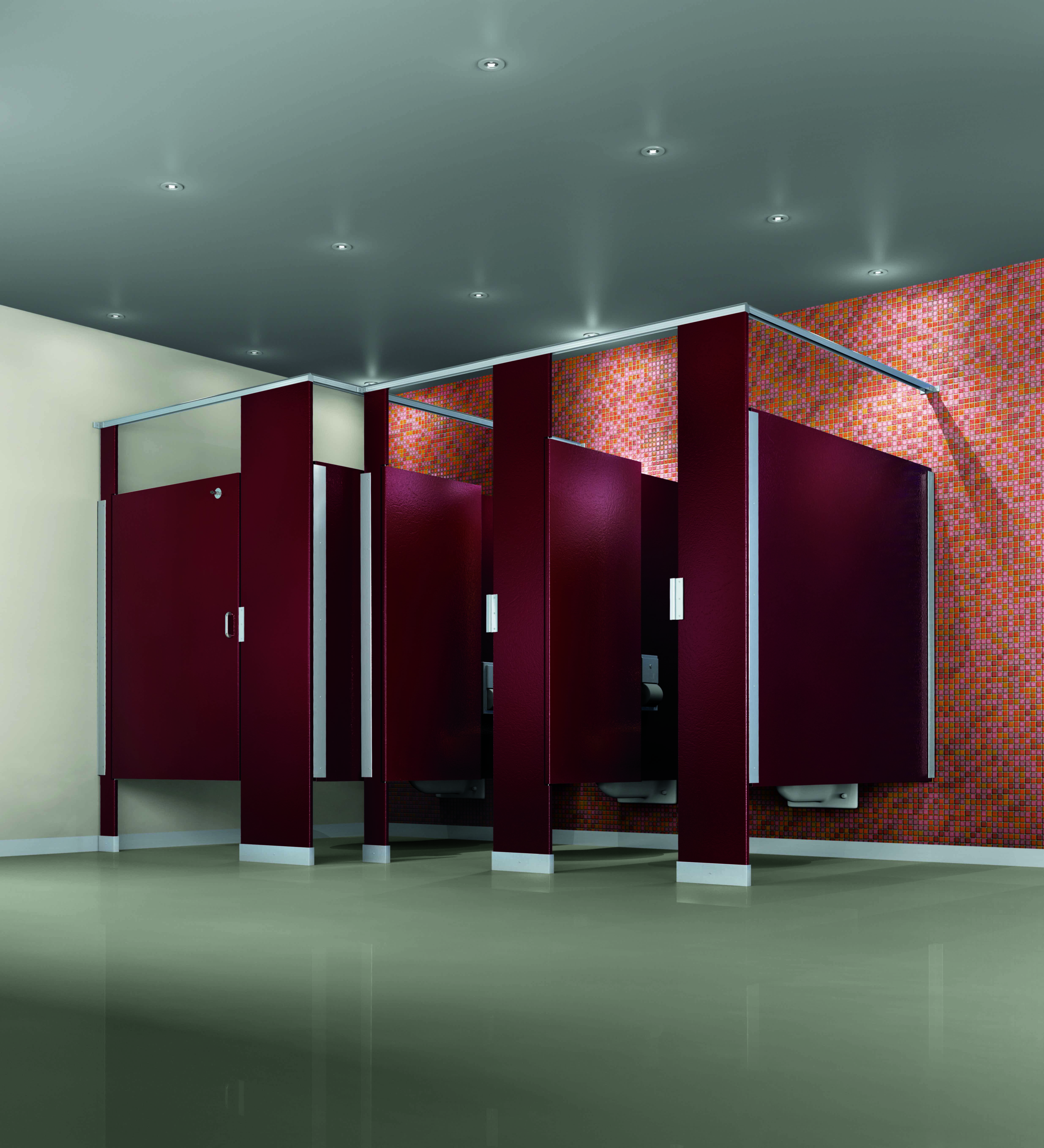 How to care for your commercial bathroom vanities for Bathroom stall partitions