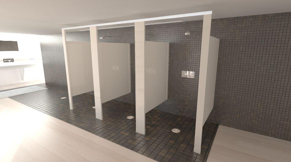 Beige/ White shower stalls - Scranton Products