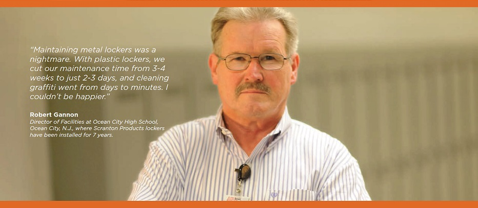 Robert Gannon, High School Facilities Director, on the benefits of HDPE lockers.