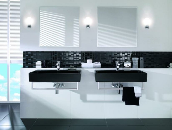Attrayant Commercial Bathroom Layout Ideas U0026 Tips · Bathrooms, Building, Restrooms ·  Black And White Modern Restrooms