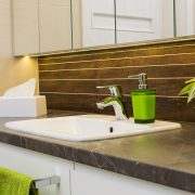 Earth Toned Bathroom interior