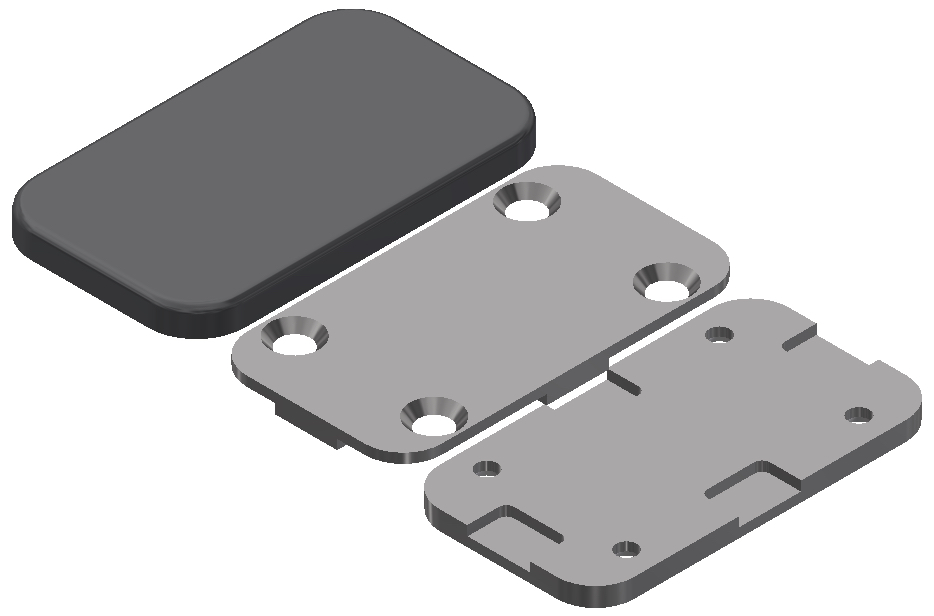 Aria Partitions Mending Plate Assembly 3D